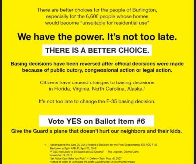 Burlington Ballot Ads